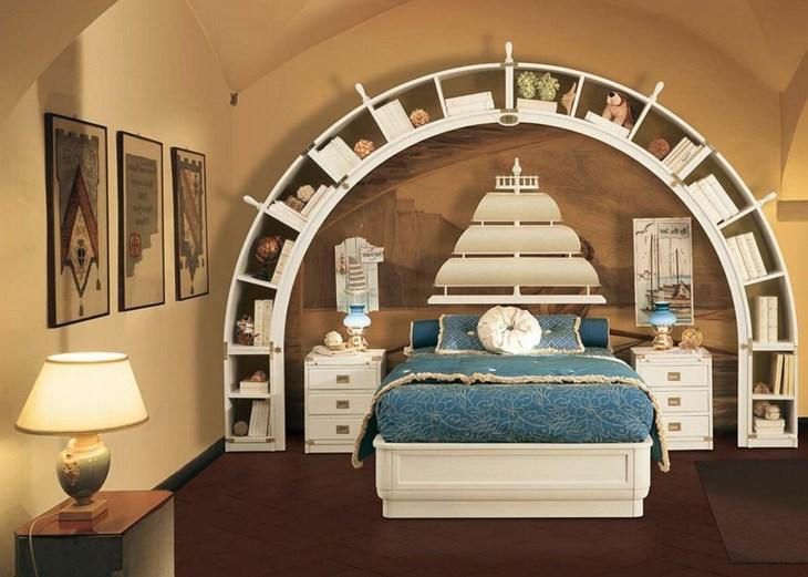 arco paredes creativa muestra librero