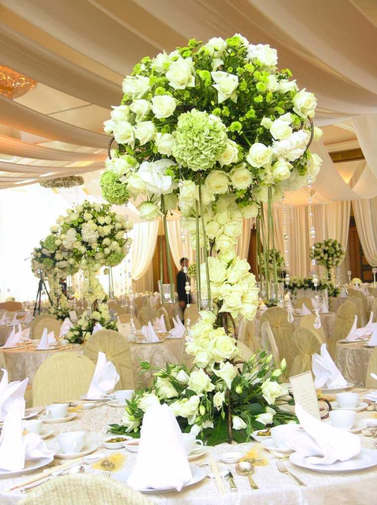 Arreglos florales para bodas elegantes y modernas for Mesas de bodas