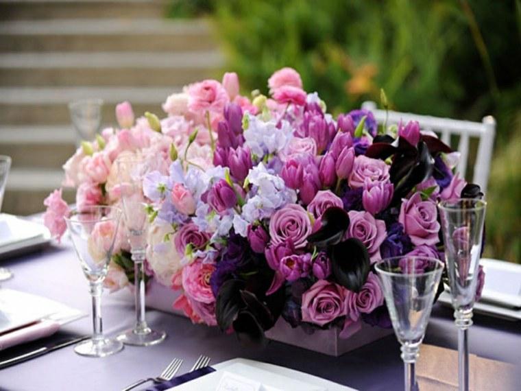 arreglos florales para bodas decorar mesa