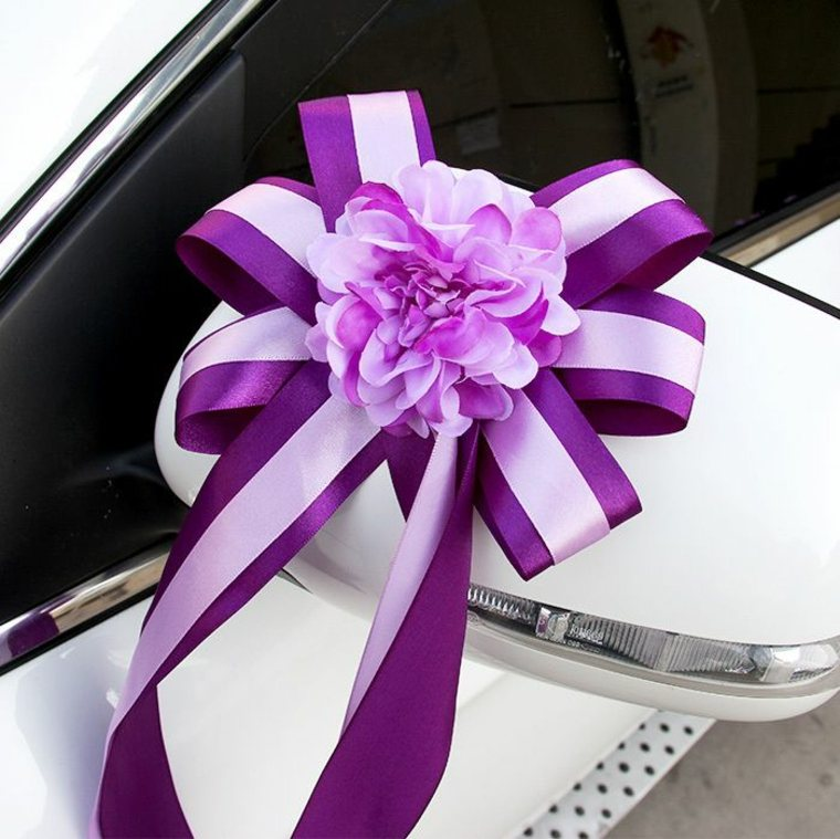 arreglos florales para coches de boda decorar