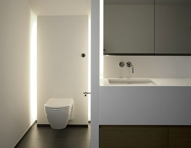 bano minimalista iluminacion Led