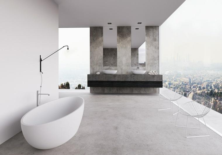 baños con encanto blanco vista partes