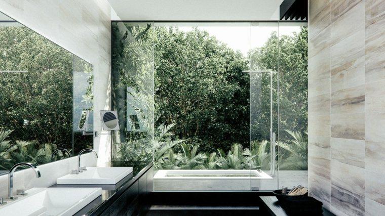 baños con encanto exterior muebles colores