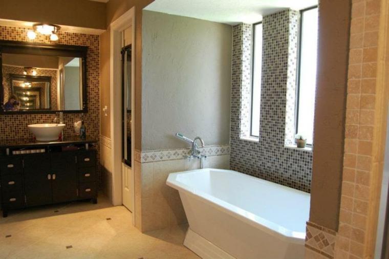 bañera azulejos gresite mosaico