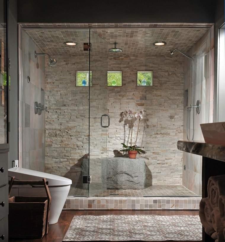 Ba os con ducha 24 ideas para crear un dise o eficiente - Disenos banos con ducha ...