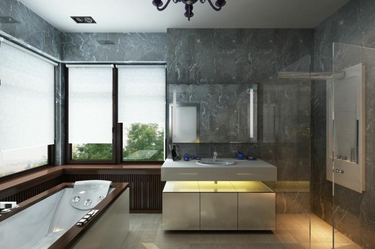 bano lavabo iluminacion led opcoines ideas