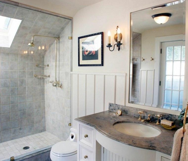 banos con ducha diseno estilo clasico ideas