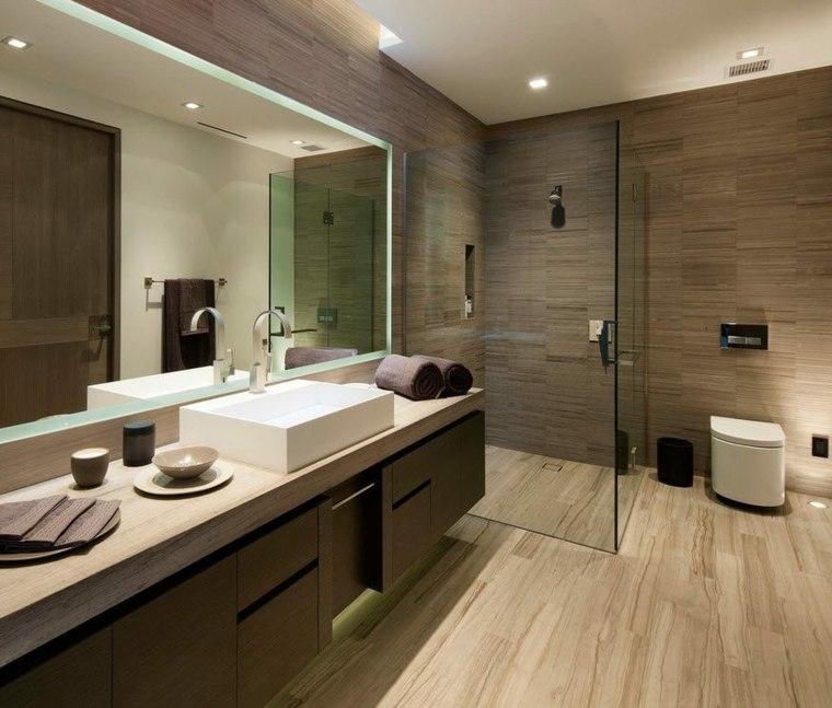 banos con ducha diseno losas originales ideas