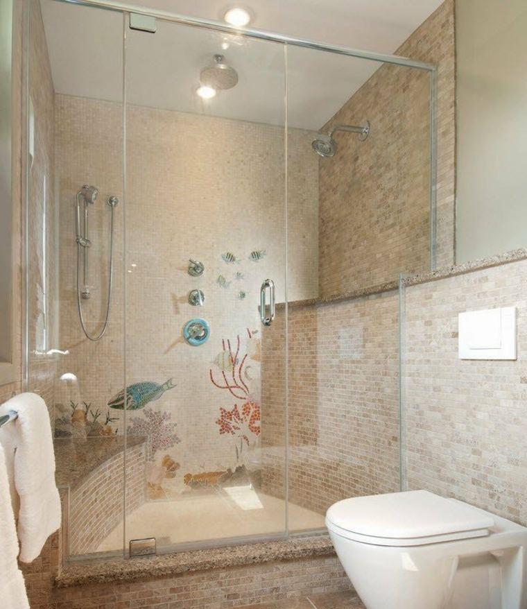 banos-con-ducha-diseno-mosaico-estampas-peces ideas