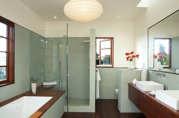 banos con ducha diseno separacion espacio ideas