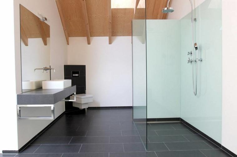 banos con ducha diseno simple amplio espacio ideas
