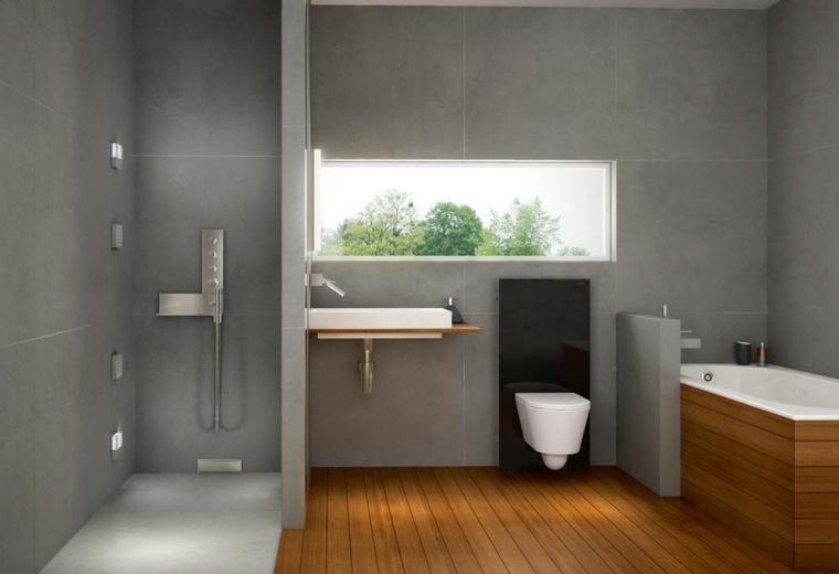 banos con ducha lavabo banera seprados ideas