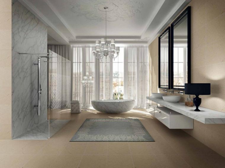 banos diseno espacio amplio marmol ideas