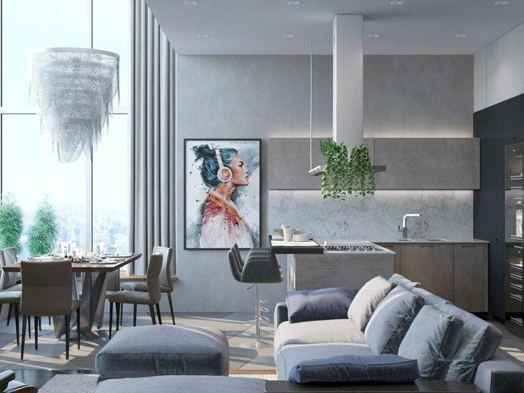 blanco gris paredes arte funcionales