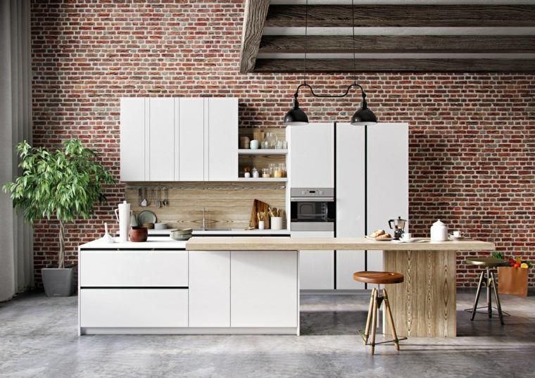 blanco madera diseño cocina tung le