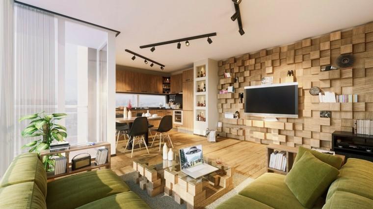 bloques madera almacenamirnto verde sillones