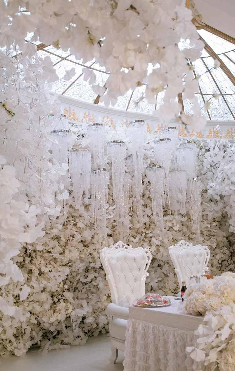 boda invierno decoracion blanco opciones ideas