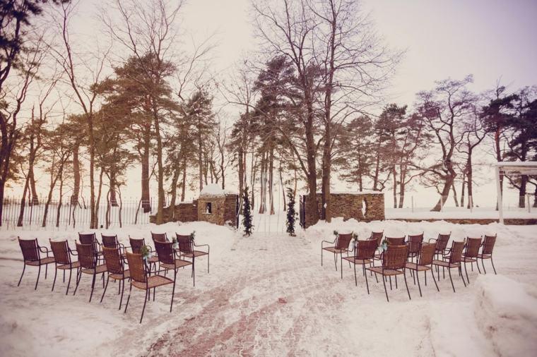 bodas originales invierno decoracion casamiento ideas