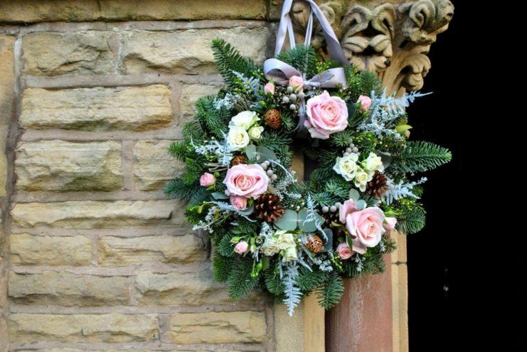 bodas originales invierno decoracion coronas ideas