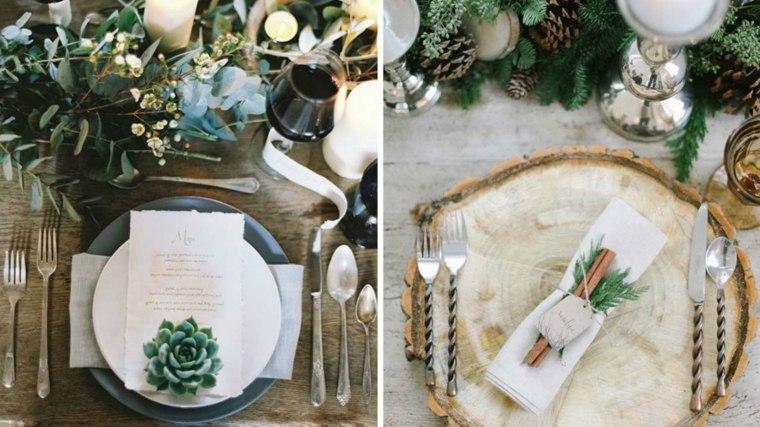 bodas originales invierno decoracion mesa estilo ideas