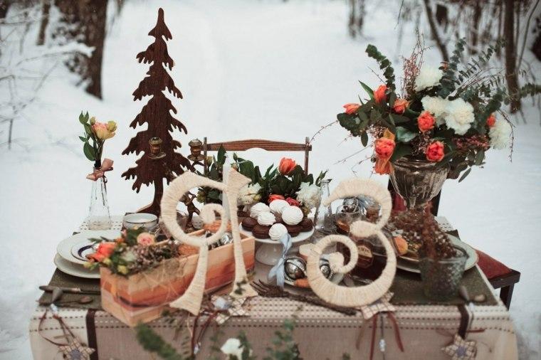 bodas originales invierno decoracion mesa exterior ideas