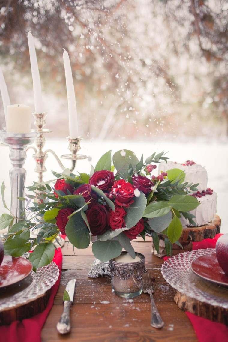 Decoracion mesas bodas originales cool diy bodas with for Decoracion invierno