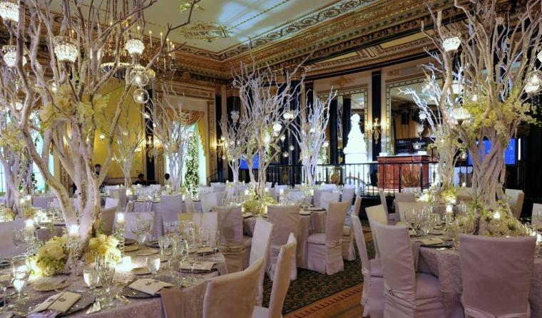 bodas originales invierno decoracion recepcion boda ideas