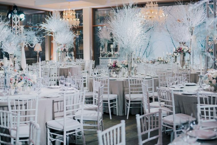 bodas originales invierno decoracion recepcion ideas