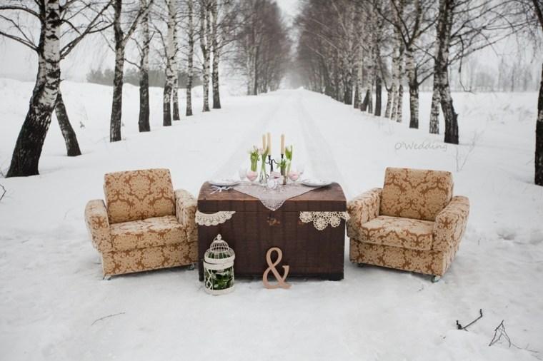 bodas originales invierno decoracion sesion fotos ideas