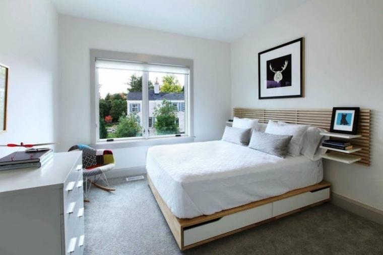bonita decoración cama alta