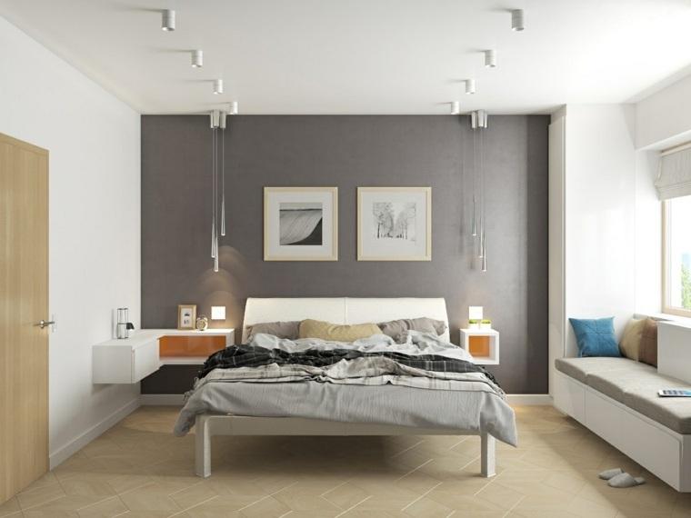 bonita habitación estilo moderno