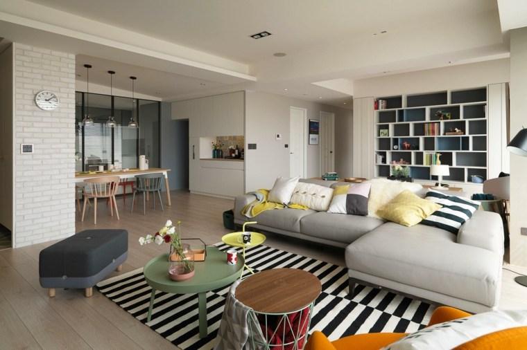 bonita sala de estar moderna