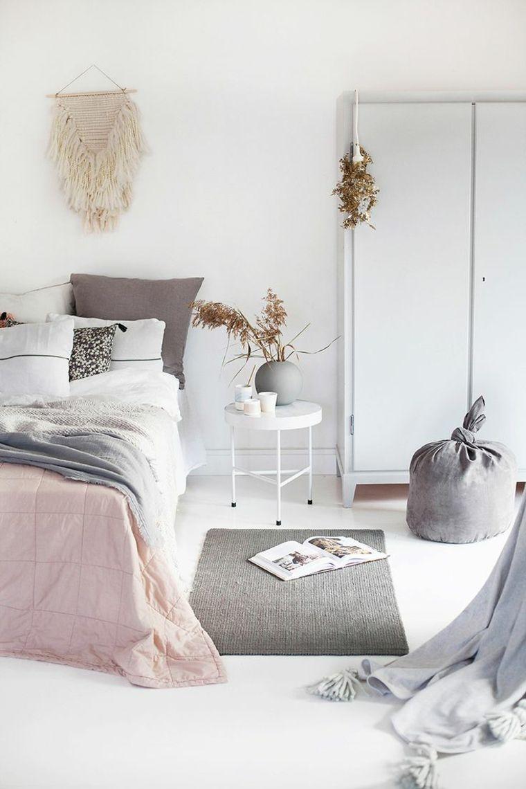 bonita decoracion cuarto estilo blanco