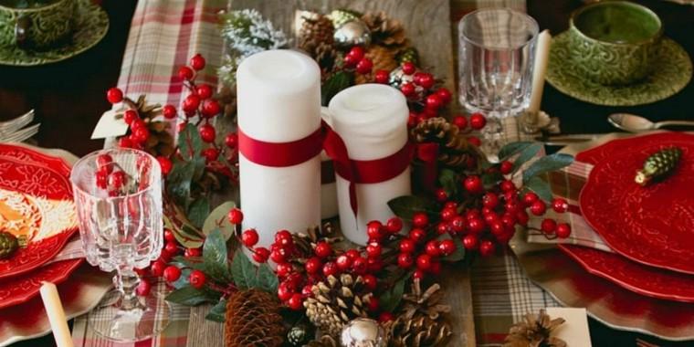 bonita decoracion de mesa de navidad