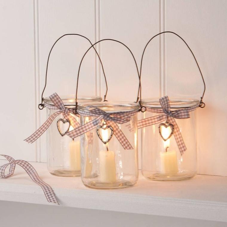 bonitas linternas navideñas tarros vidrio