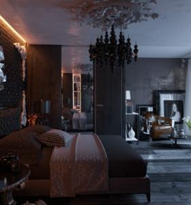Dormitorios con vestidor y ba o 50 opciones de dise o for Dormitorio oscuro