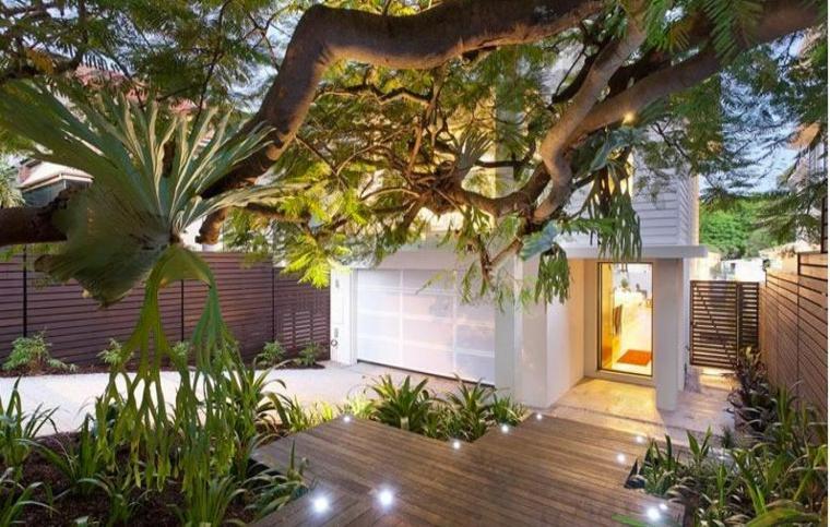 bonito diseño jardin luces