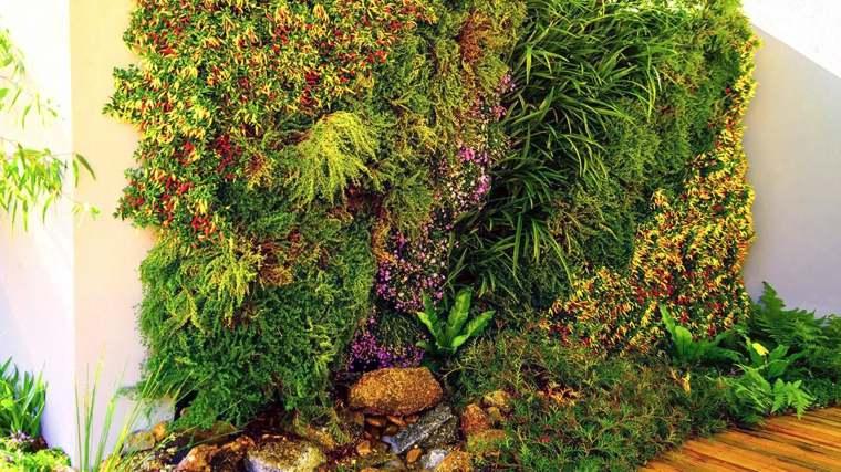 bonito jardin vertical colores