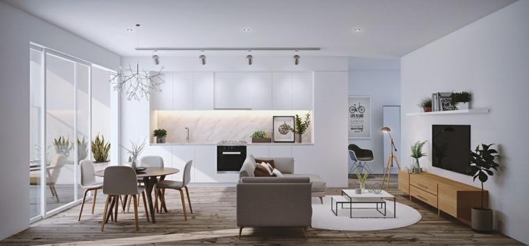 bonita cocina moderna blanca