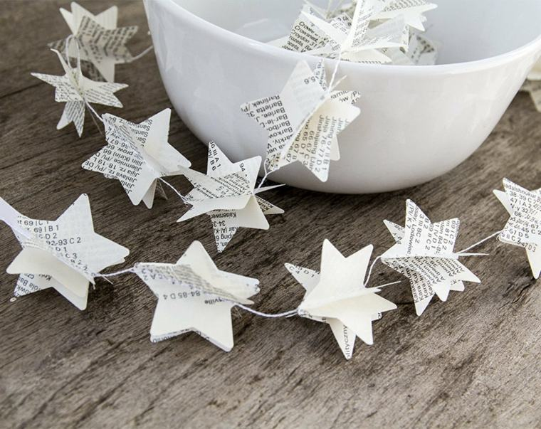 bonita guirnalda estrellas papel