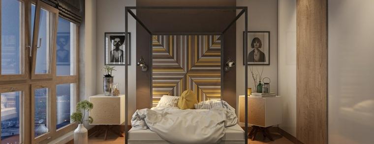 cabecero geometrico cuadros partes camas