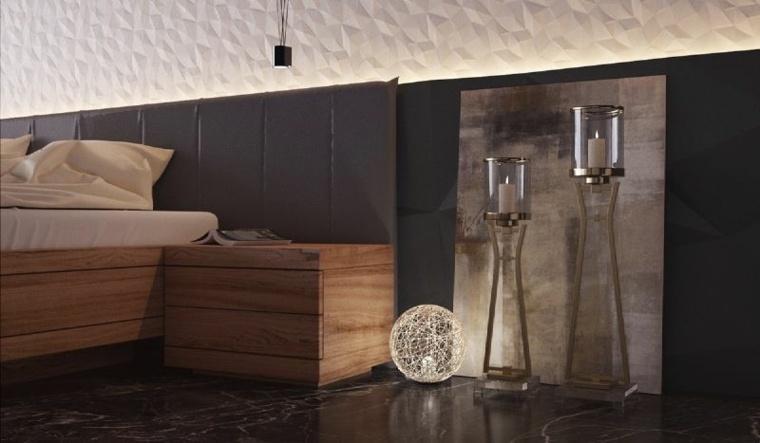 cabecero cama tapizado color gris