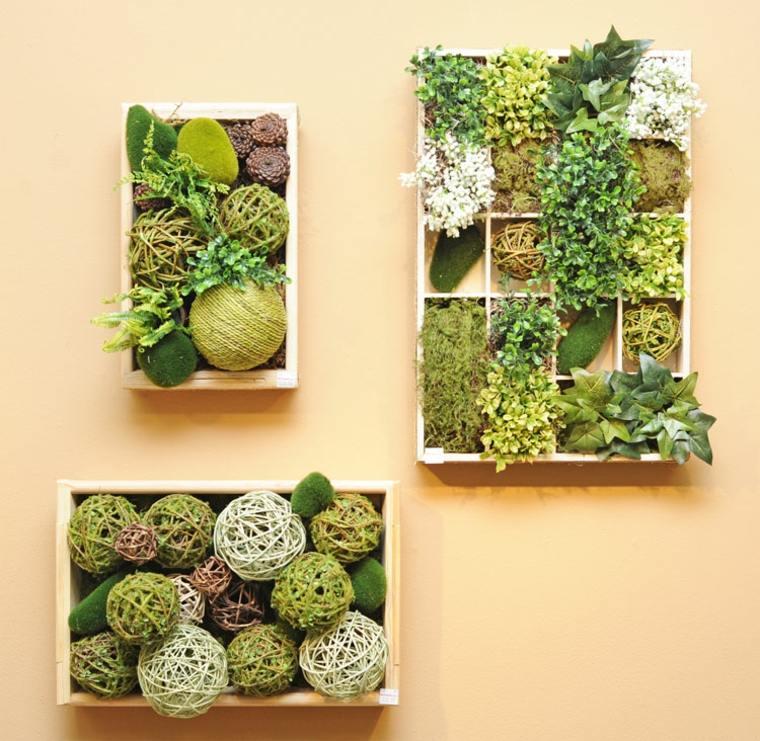 cajas macetas jardines verticales sencillos