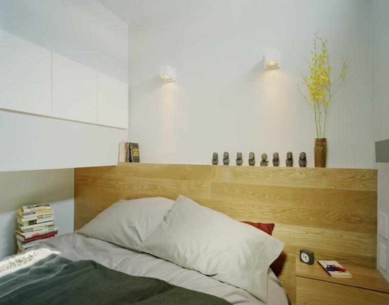 cama cabecero moderno de madera