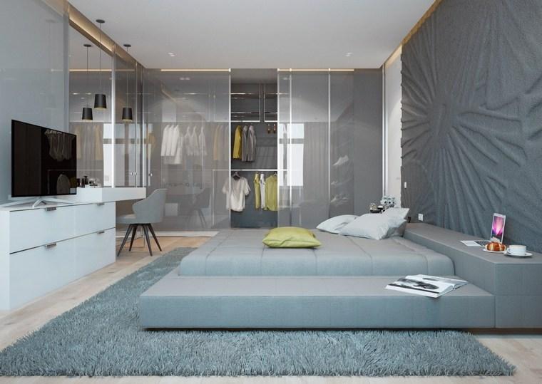 habitaciones grises diseno moderno