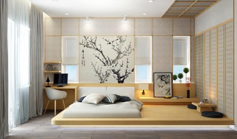 camas de matrimonio bajas diseno asiatico ideas