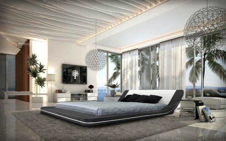 camas de matrimonio bajas diseno contemporaneo dormitorio ideas