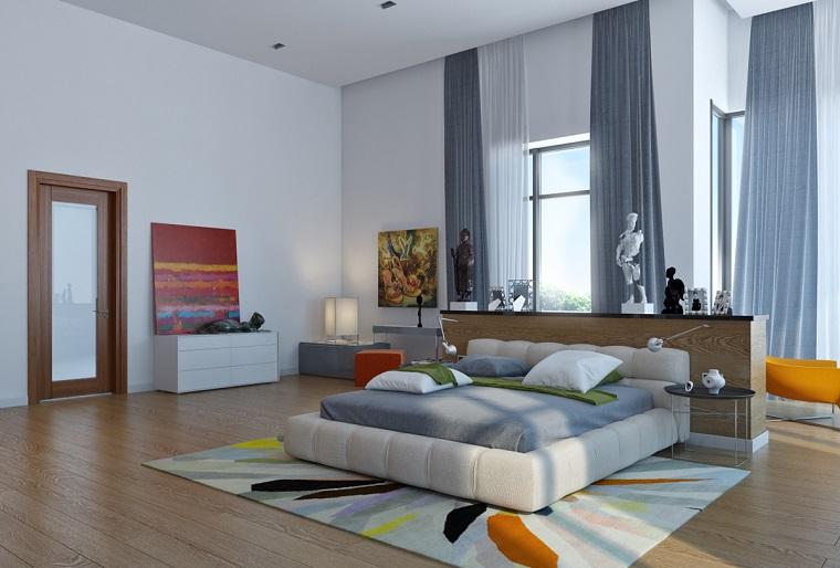 camas de matrimonio obajas dormitorio amplio diseno ideas