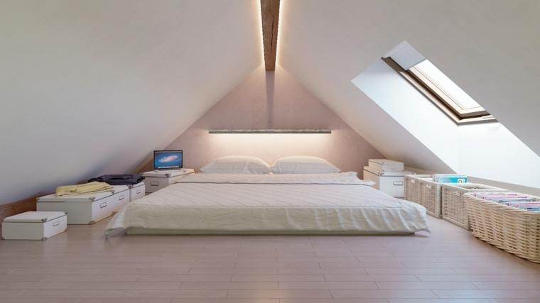 camasde matrimonio bajas dormitorio techo abovedado ideas