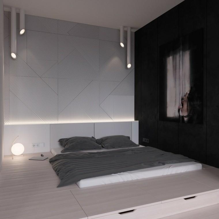 camas matrimonio bajas estilo japones ideas